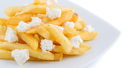 Fries mixed with Feta Cheese and served with Tzatziki Sauce on the side
