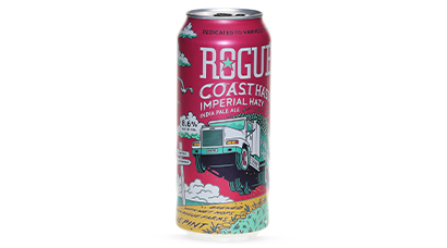 8.1% ABV - To make this beer, we cut down fresh Rogue Farms grown Centennial hops, load them into a truck and rush them posthaste over to our brewery on the coast. When the hops arrive, they go straight into the brew, still wet from the farm. The effort pays off in this hazy, fruity, wet-hop laden imperial IPA.