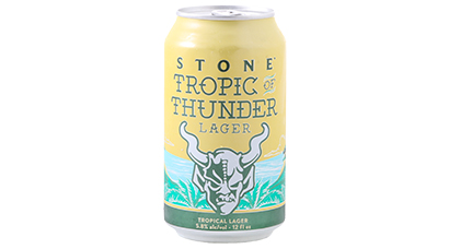 5.80% ABV -   Citra, Mosaic, and Cashmere hops with their juicy tropical aromas of citrus, pineapple and coconut are combined to create this feisty but easy drinking American lager.